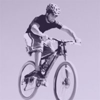 picture of a boy biking